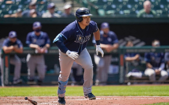 Rays' Choi Ji-man stays hot, reaches base 4 times in rout