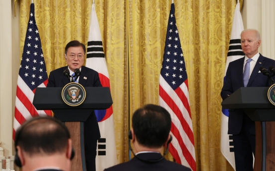 Moon, Biden agree on need for dialogue with N. Korea