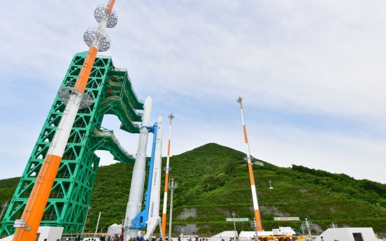 S. Korea unveils homegrown space rocket for first time