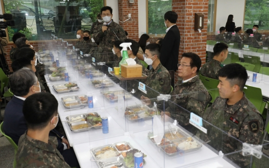 Military to raise troops' daily meal cost next month
