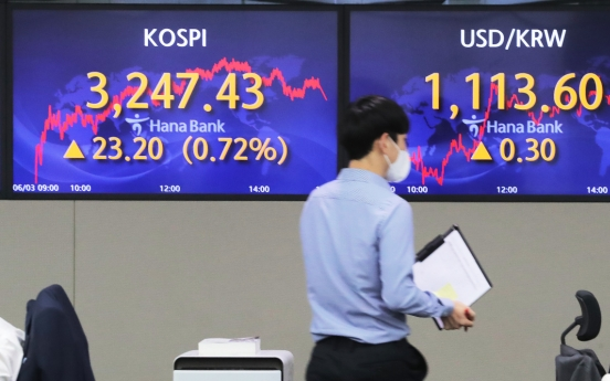 Seoul stocks up for 5th day on easing inflation jitters