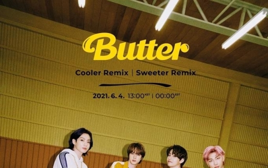 BTS to drop 'Cooler,' 'Sweeter' remix of latest single 'Butter'