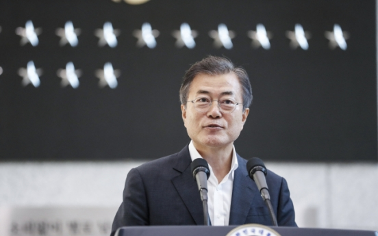 Moon visits S. Korea's spy agency for briefing on its reform steps