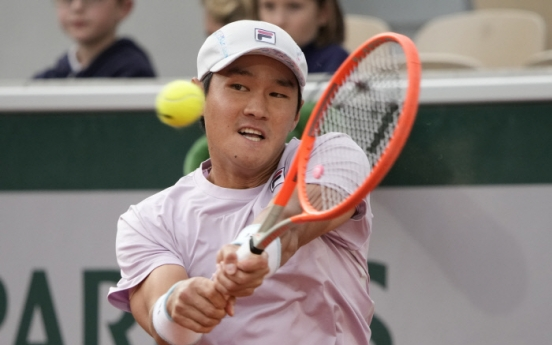 Kwon Soon-woo ousted in 3rd round at French Open
