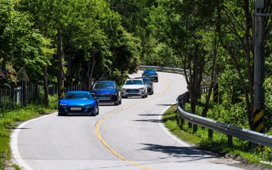 [Behind the Wheel] Audi's most powerful vehicles whizz on Inje Speedium