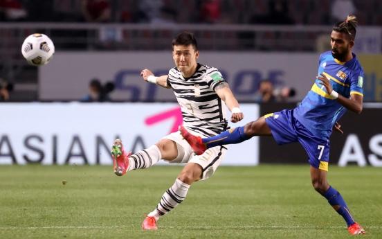 S. Korea rout Sri Lanka 5-0 in World Cup qualifier