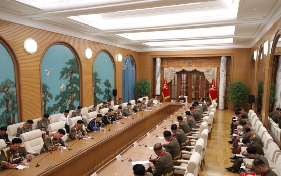 NK leader presides over Central Military Commission meeting, calls for 'high alert posture'