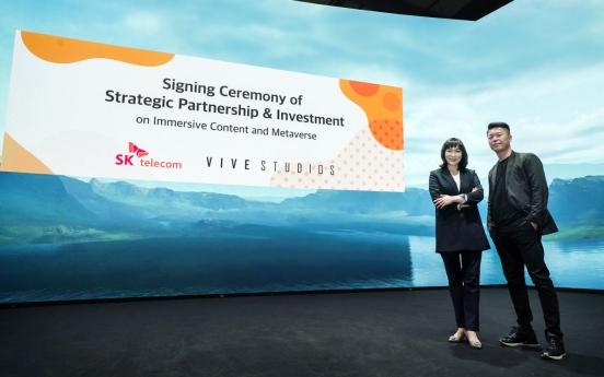 SKT buys into ViveStudios to enhance metaverse service