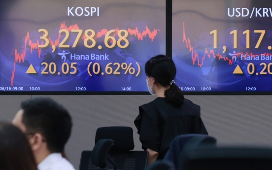 Seoul stocks set fresh high for 3rd day ahead of FOMC results