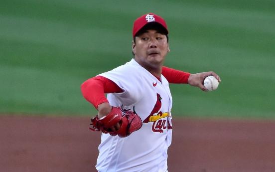 Cardinals' Kim Kwang-hyun takes no-decision in up-and-down start