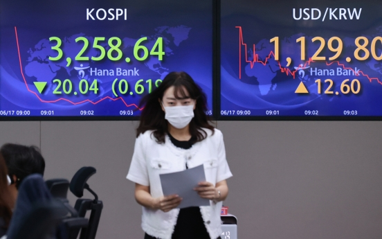Seoul stocks snap 5-day rise on Fed's hawkish comments, Kosdaq tops 1,000 points again