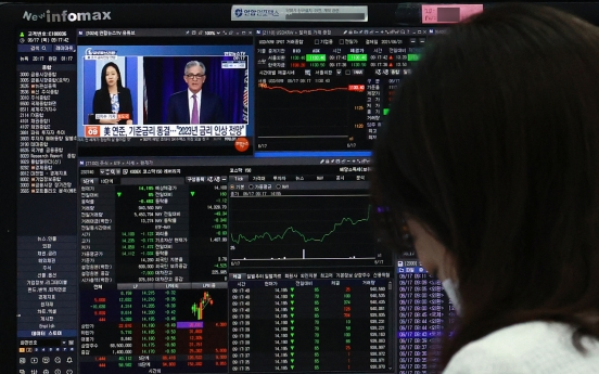 [Market Close-up] Market drops over US Fed's rate hike plan, but officials say Seoul safe from volatility