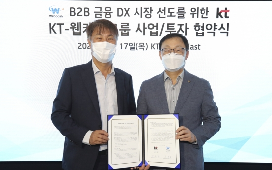 KT invests W23.6b in country's largest enterprise fintech firm