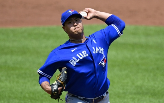 Blue Jays' Ryu Hyun-jin beats Orioles for 1st win of June