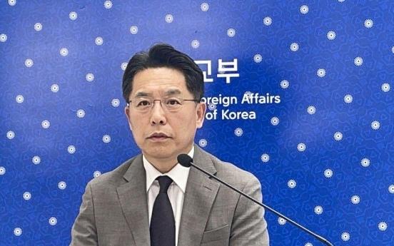 Seoul nuke envoy stresses need to resolve N.K. issue through dialogue