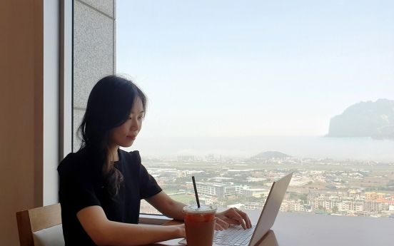 A Lotte company introduces 'workcations,' allowing remote work from Jeju hotel