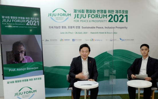 Jeju peace forum opens to discuss climate change, pandemic, sustainable peace
