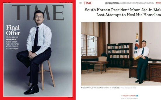 Moon stresses urgency of Korea peace in TIME interview