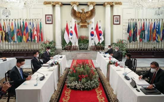 Top diplomats of S. Korea, Indonesia agree on close cooperation for joint fighter project
