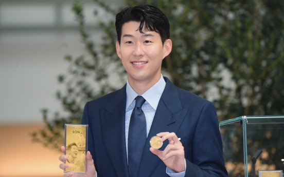 Commemorative medals for footballer Son Heung-min go on sale