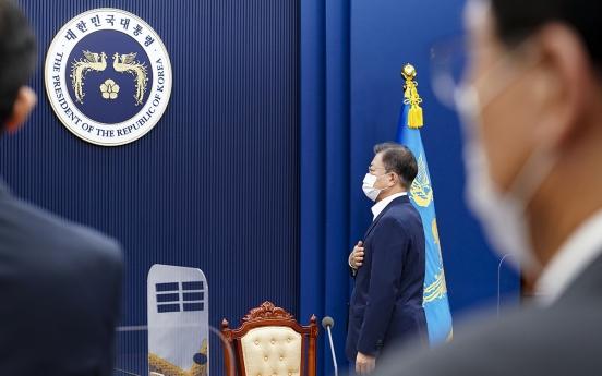 Moon pledges Korea's bigger role as 'advanced nation'