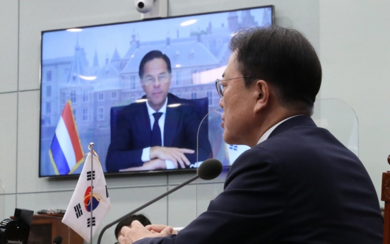 Moon, Dutch PM vow to bolster partnership on chips