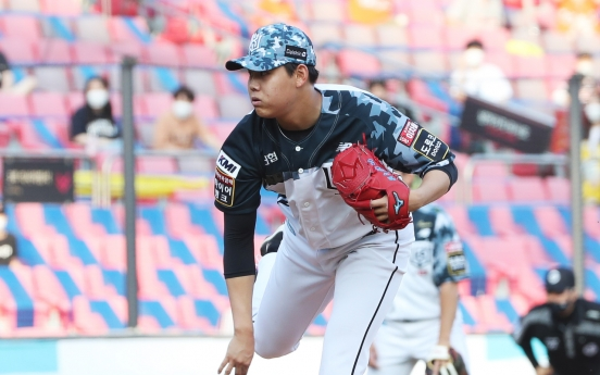 Sophomore pitcher nabs KBO's top player award for June