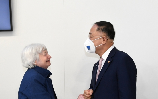 Finance chiefs of South Korea, US hold talks on sidelines of G-20 meeting