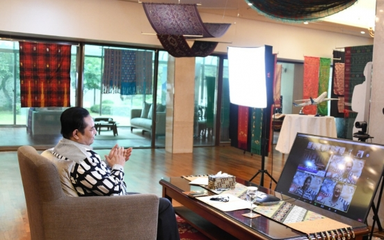 [Diplomatic Circuit] Indonesian batik enters Korea's online market