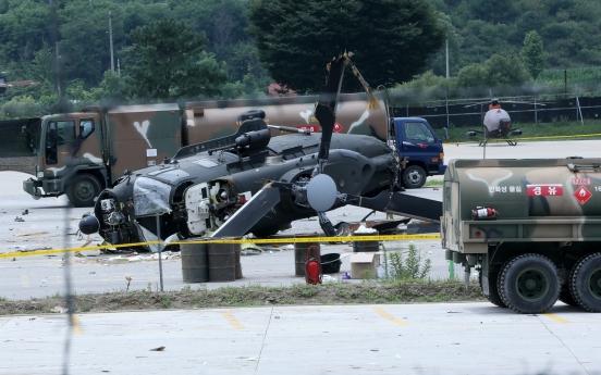 Five injured after Army helicopter crash-lands