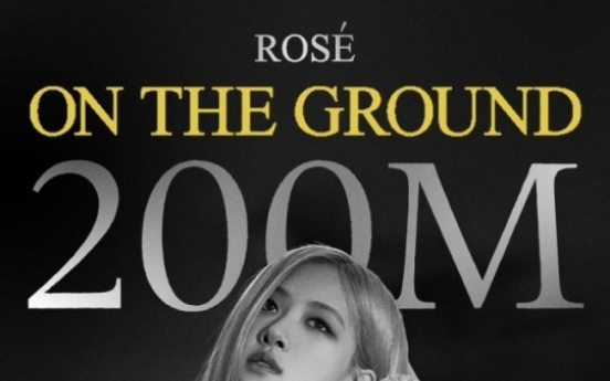 """[Today's K-pop] Blackpink Rose's """"On the Ground"""" video tops 200m views"""