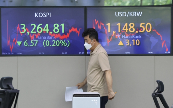 Seoul stocks snap two-day winning streak on inflation woes