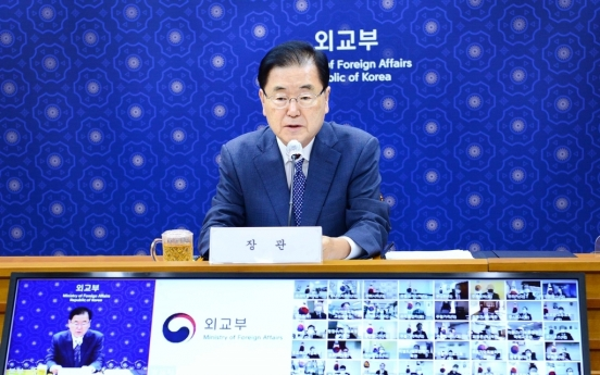 FM Chung calls for overseas mission chiefs to prioritize citizens' safety