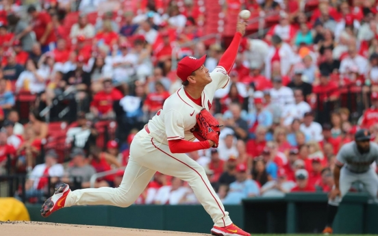 Cardinals' Kim Kwang-hyun shuts down Giants for 2nd time, extends scoreless streak to 21 innings