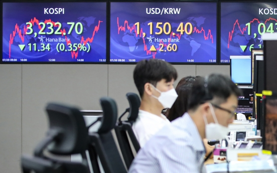 Seoul stocks down for 3rd day on virus concerns