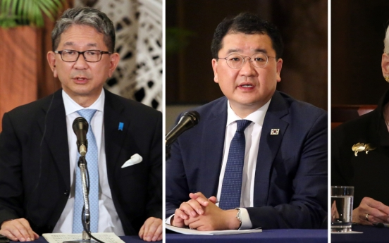 South Korea, US, Japan agree to up cooperation over NK, pandemic