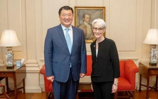 Vice FM Choi, Deputy Secretary Sherman to hold talks on N. Korea, global issues