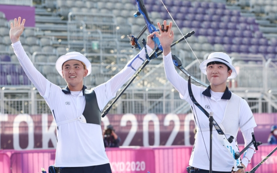 [Tokyo Olympics] S. Korea captures inaugural gold in archery mixed team event