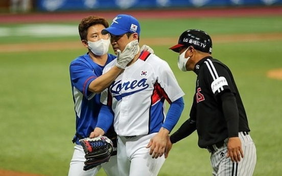 [Tokyo Olympics] Baseball players escape with minor injuries from tuneup game