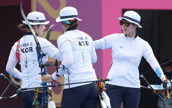 [Tokyo Olympics] On cloud nine: S. Korea wins 9th consecutive gold in women's archery team event