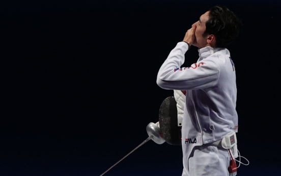 [Tokyo Olympics] Fencer proud of work despite falling short in gold medal defense