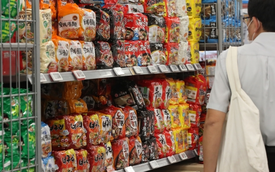 South Korean instant noodle exports hit record high