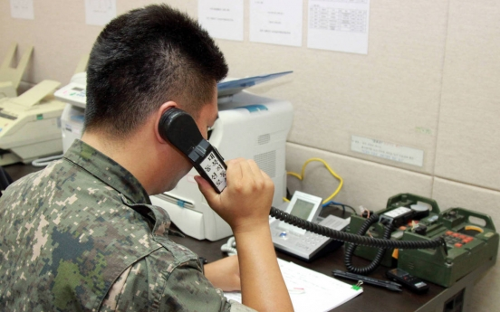 Inter-Korean military hotlines in normal operation after 13-month suspension: defense ministry