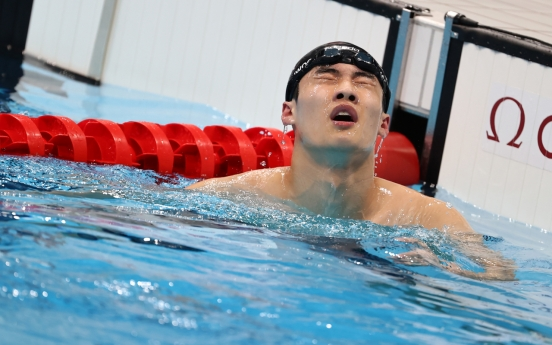 [Tokyo Olympics] Young swimmer surprised with own fast start, upset with poor finish