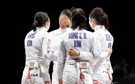 [Tokyo Olympics] S. Korea wins silver in women's team epee fencing