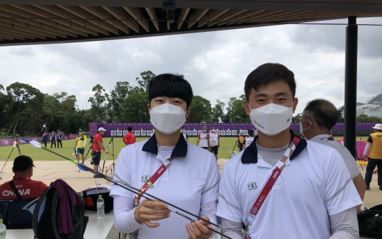 [Tokyo Olympics] S. Korean archery champions to donate 'Robin Hood' arrows, uniforms to Olympic Museum