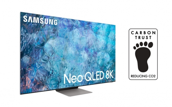 Samsung's QLED TVs receives carbon foot print certification