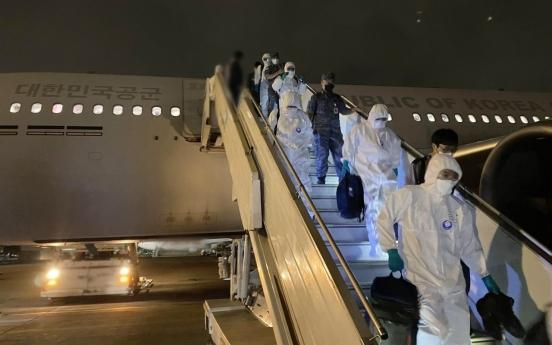29 members of virus-hit Cheonghae unit exit quarantine after testing negative