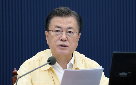 Moon vows to focus on response to virus, industrial revolution, climate change