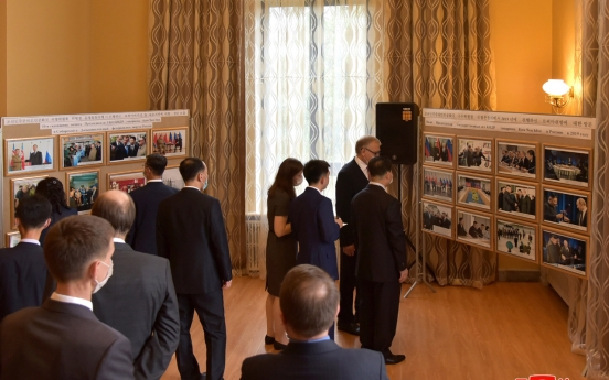 NK officials attend Russian Embassy's exhibition, resume in-person diplomacy